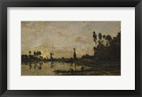 Setting Sun Over The Oise, 1865 Fine Art Print