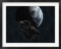 Asteroid in Front of Earth Fine Art Print