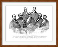 First African American Senator and Representatives Fine Art Print