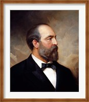Vintage President James Garfield Fine Art Print