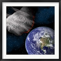 Asteroid Approaching Earth Fine Art Print