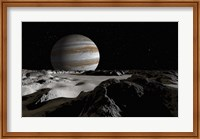 Jupiter's Large Moon, Europa Fine Art Print