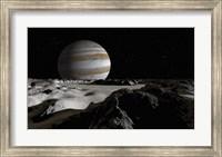 Jupiter's Large Moon, Europa Fine Art Print
