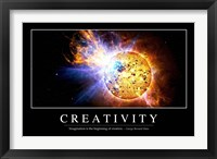 Creativity: Inspirational Quote and Motivational Poster Fine Art Print