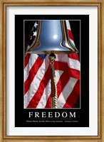 Freedom: Inspirational Quote and Motivational Poster Fine Art Print