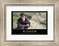 Wisdom: Inspirational Quote and Motivational Poster Fine Art Print