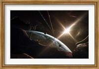 Mining Colony on an Asteroid Fine Art Print