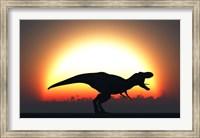 A T Rex Silhouett Fine Art Print