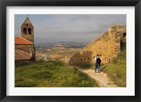 Backpacking at Iglesia Parroquial de Santa Maria la Mayor Church, La Rioja, Spain Fine Art Print
