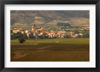 Village of Brinas surrounded by Vineyards, La Rioja Region, Spain Fine Art Print