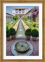 Spain, Granada Patio de la Acequia at Generalife garden Fine Art Print