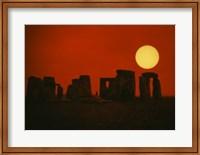 Monoliths of Stonehenge near Salisbury, England Fine Art Print