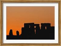 England, Salisbury Plain, Stonehenge Sunset Fine Art Print