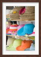 Hats for Sale, Kokkari, Samos, Aegean Islands, Greece Fine Art Print