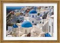 Blue Domed Churches, Oia, Santorini, Greece Fine Art Print