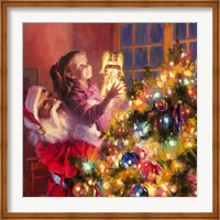 Santa Little Angel Bright Fine Art Print