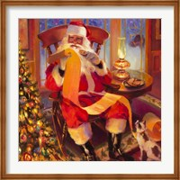 Santa Christmas List Fine Art Print