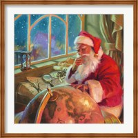 Santa World Traveler Fine Art Print