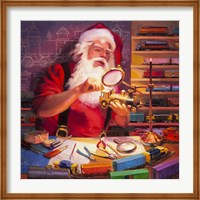 Santa the Train Master Fine Art Print