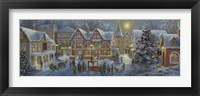 Christmas Village Panoramic Fine Art Print