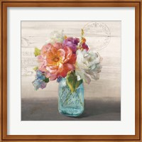 French Cottage Bouquet I Fine Art Print