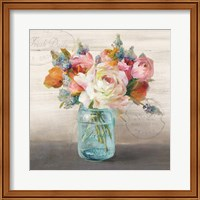 French Cottage Bouquet II Fine Art Print