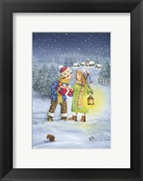 A Christmas Gift Exchange Fine Art Print
