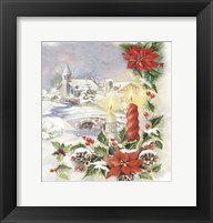 Holiday Candles With Pointsettia Fine Art Print