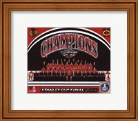 Chicago Blackhawks 2015 Stanley Cup Champions Team Sit Down Photo Fine Art Print