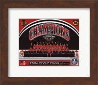 Chicago Blackhawks 2015 Stanley Cup Champions Team Sit Down Photo Fine Art Print