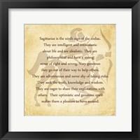 Sagittarius Character Traits Fine Art Print