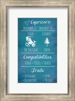 Capricorn Zodiac Sign Fine Art Print