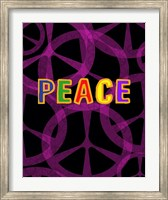 Peace (magenta/black) Fine Art Print