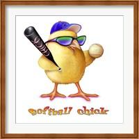Softball Chick Fine Art Print