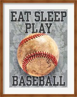Eat Sleep Play Baseball Fine Art Print