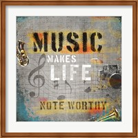 Music Makes Life Fine Art Print