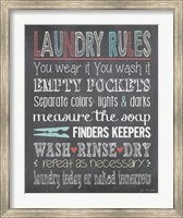 Laundry Rules Fine Art Print