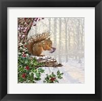 Christmas Squirrel Fine Art Print
