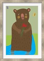 Bear With Flowers Fine Art Print