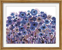 Blue Blooming Garden Fine Art Print