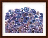 Blue Blooming Garden Fine Art Print