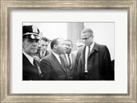 Martin Luther King and Malcolm X Fine Art Print