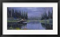 Moose At Fisher Cap Lake Fine Art Print