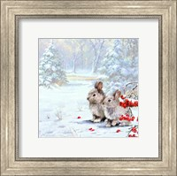 Woodland Rabbits Fine Art Print