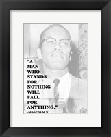 A Man Who Stands for Nothing Fine Art Print