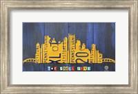 Pittsburgh Skyline License Plate Art Fine Art Print