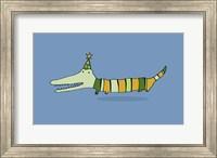 Stripy Crocodile Fine Art Print