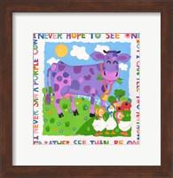 I Never Saw A Purple Cow Fine Art Print
