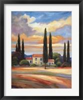 Sunset In Provence Fine Art Print