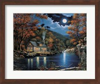 Cabin By The Lake Fine Art Print